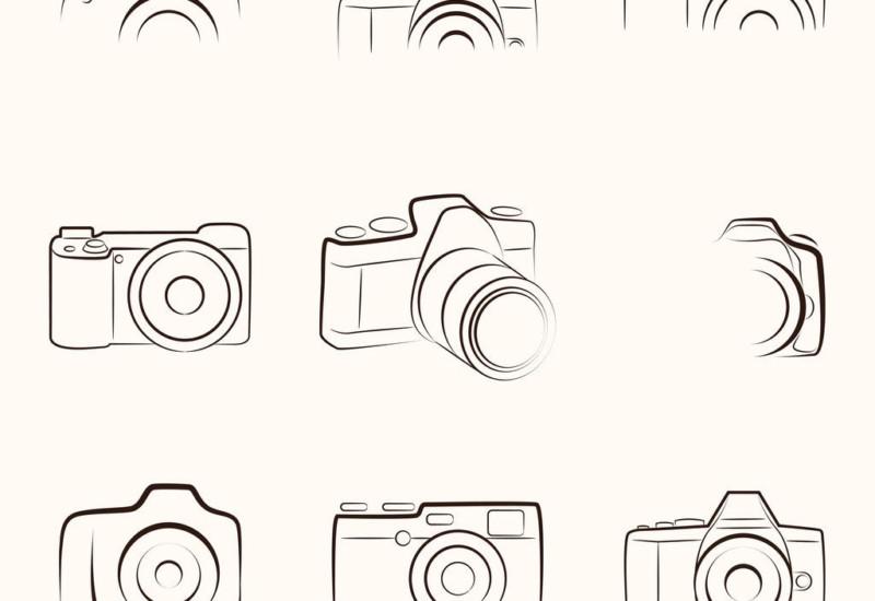 33504252 - camera outline